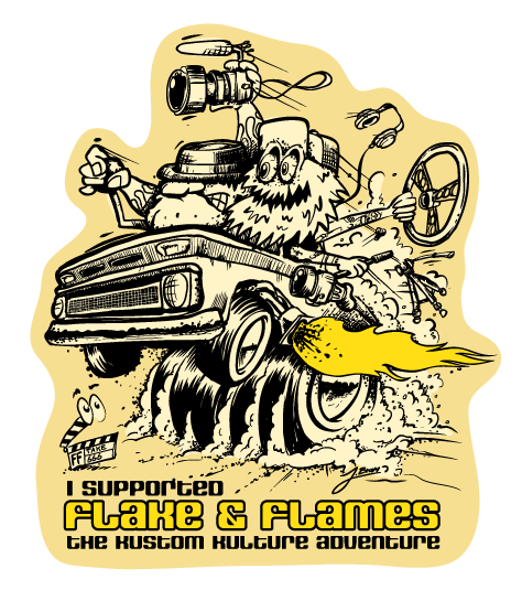 Flake & Flames Support Sticker